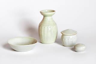 Group of pale porcelain vessels