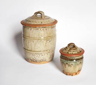 Two ceramic sugar jars