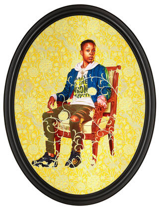 Portrait of Melissa Thompson by Kehinde Wiley photo